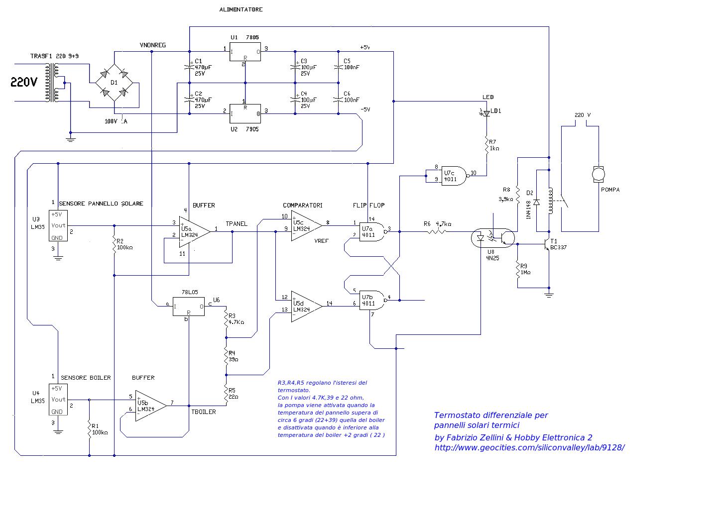 Schema Elettrico Termostato Frigo : Schema elettrico differenziale fare di una mosca