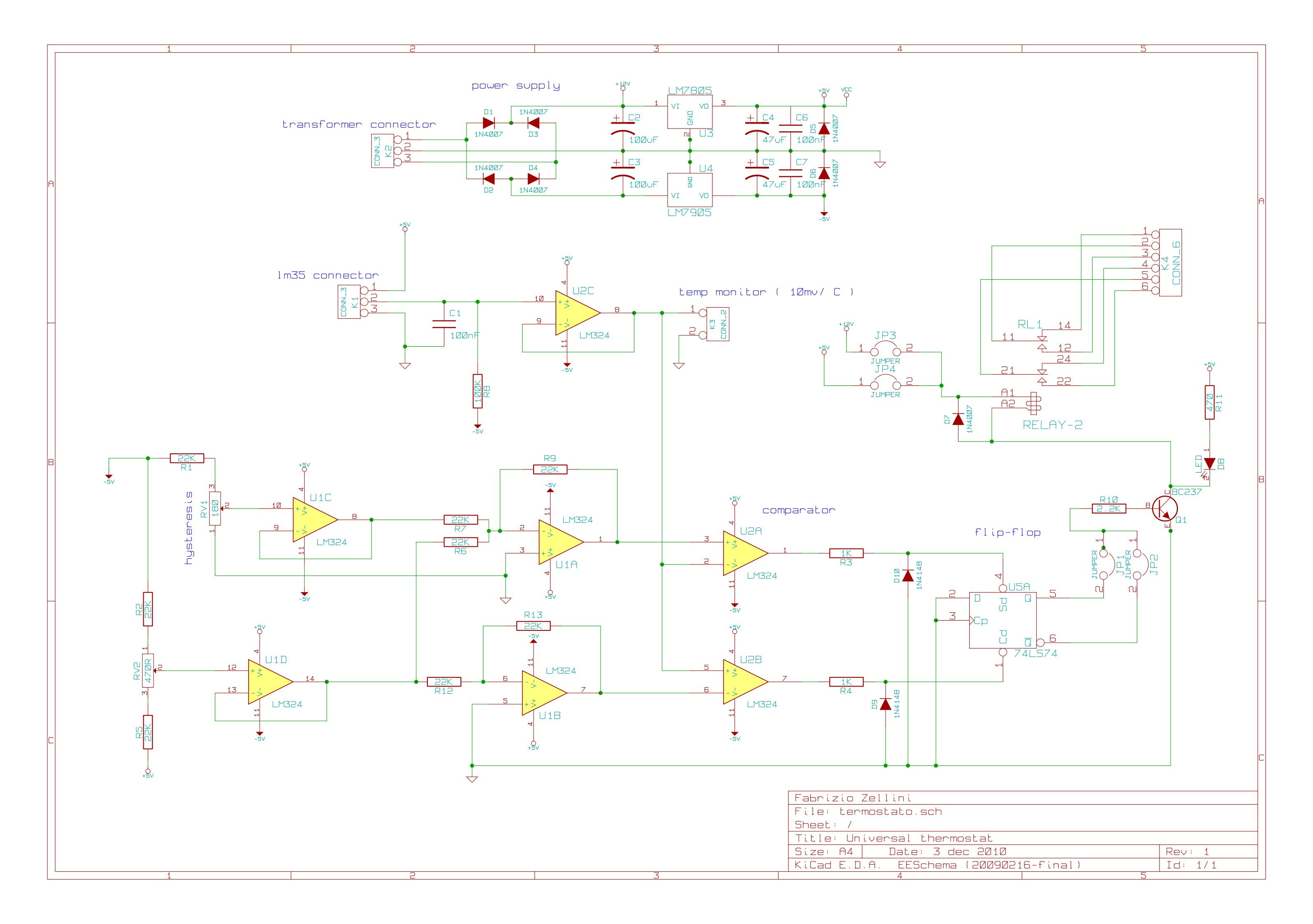 Schema Elettrico Termostato Frigo : Un termostato universale
